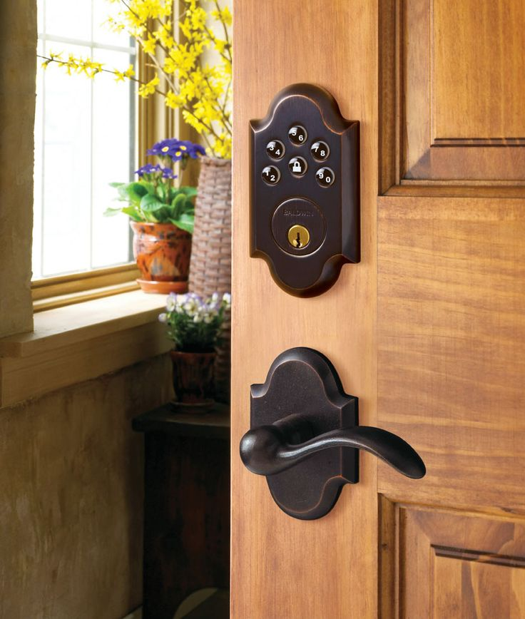 Baldwin Hardware Keyless Entry With Home Connect Technology   Pursuitist