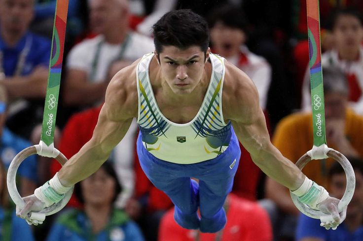 Brazil's Arthur Mariano competes in the rings event of the men's individual all-around final  (2000×1333)