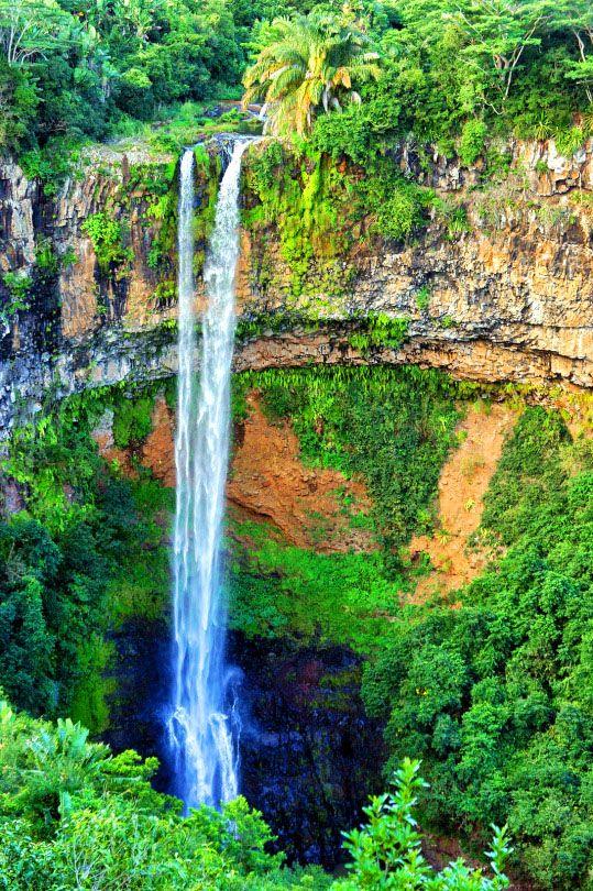 Chamarel Waterfall in Mauritius Island