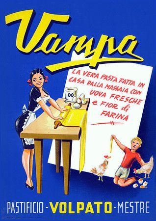 Vampa Egg Pasta 1950s