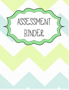 This is a great assessment binder template to help keep all your records organized for easy access!  Please be aware that the assessment chart is specific to Ontario Curriculum guidelines.