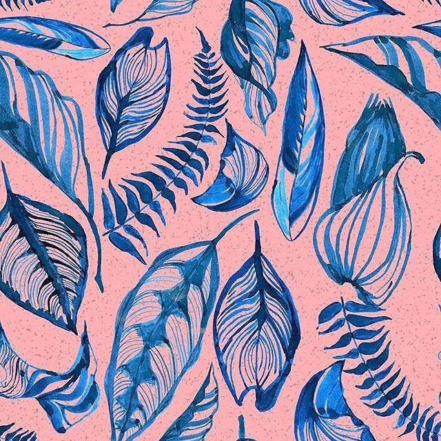New inky leaf prints available on my #Patternbank account @patternbank IG: @jessica_rosestitch