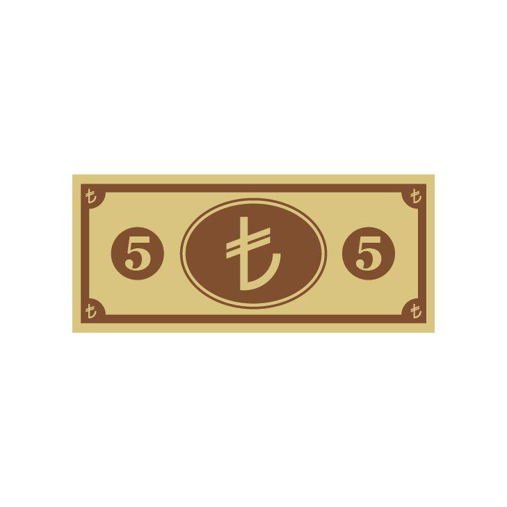 Vektörel 5 TL (Türk Lirası) Çizimi