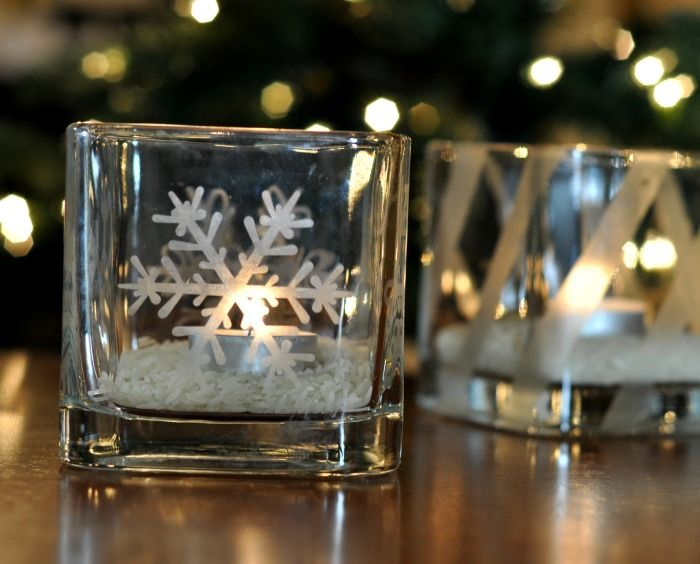 Votive Candle Holders With Gorgeous Glass Etched Accents - A Tutorial