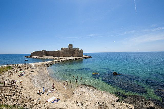 Le Castella, Calabria, in summer time. Italy beaches