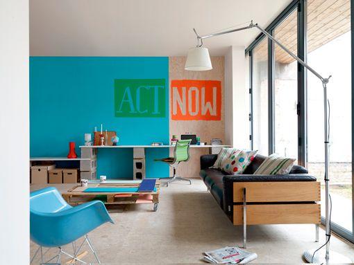 M s de 1000 ideas sobre paredes naranja en pinterest - Pintura decorativa paredes ...
