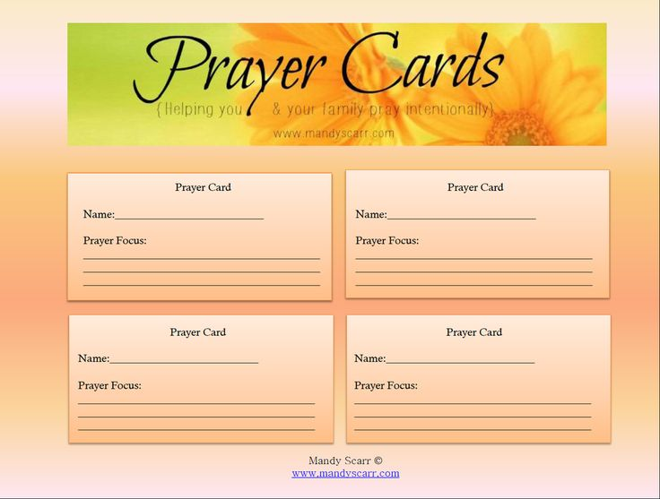 prayer cards for funeral