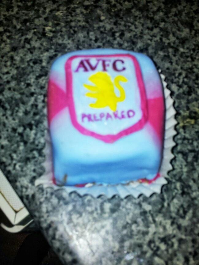 mini aston villa cake for mark :)