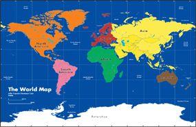 Montessori Wall World Map. | Montessori Our world ...