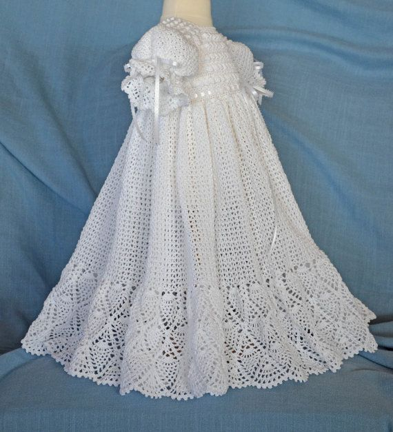 White Christening / Blessing Gown -  Baby Dress - READY TO SHIP -  13090-G