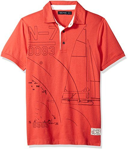 b66d73924fd Nautica Mens Short Sleeve Slim Fit Fashion Print Polo Shirt #tshirt #shirt # polos #clothing #fashion #poloshirt