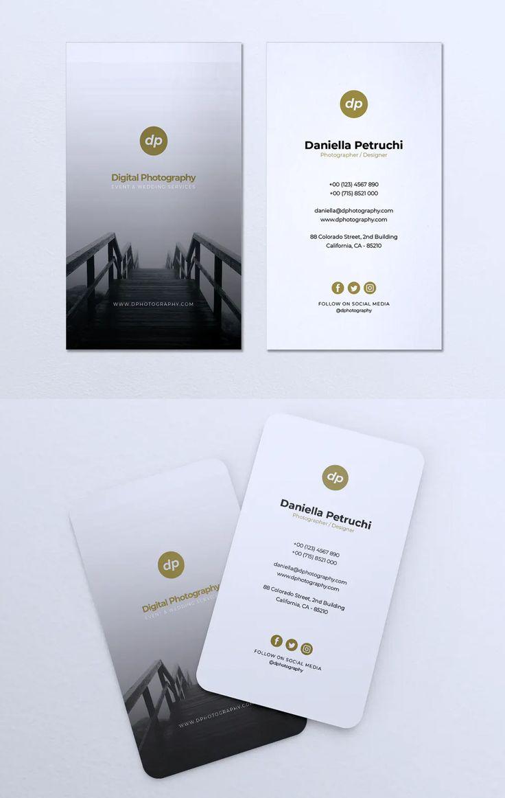 Minimalist business card template ai eps psd