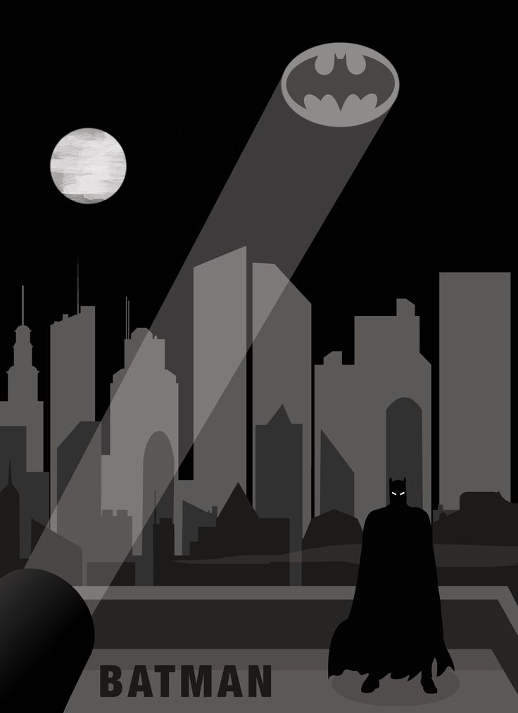 Batman Minimal Movie Poster  Copyright©TheArtlessAsylum 2015