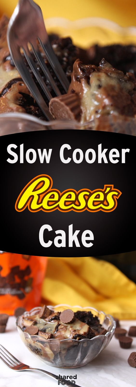 Have you ever made a cake in the slow cooker? Well, your favorite chocolate is now a scrumptious Slow Cooker Reese's Cake! This peanut butter treat is so easy to bake up - just set it, and forget it! This confection is perfect for those times that you need to feed a crowd, but just don't have that much time. Give it a try, you won't regret it!