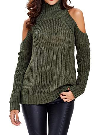 eec667e3ab8799 Beautiful Choies Women Black Turtleneck Cut Out Cold Shoulder Ribbed Knit  Slim Pullover Sweater online.   25.69  findanew from top store