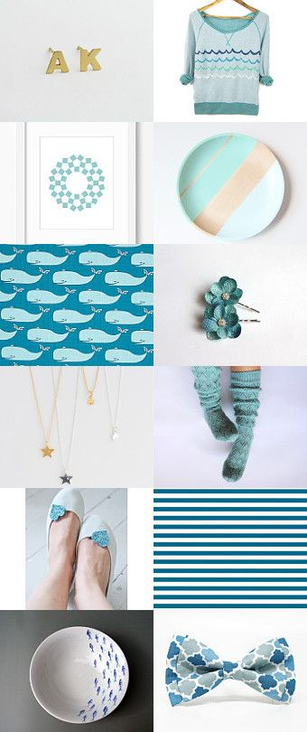 Ocean Breeze by HuesShop on Etsy--Pinned with TreasuryPin.com