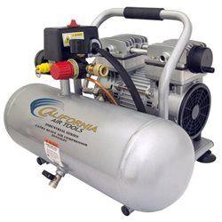2 Gallon Ultra Quiet and Oil-Free 1 HP Aluminum Tank Air Compressor