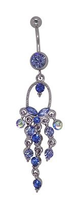 This Long Dangle Butterfly chandelier belly button ring design is available in Crystal, Pink, Lavender or Lt. Blue! http://qoo.ly/g446h
