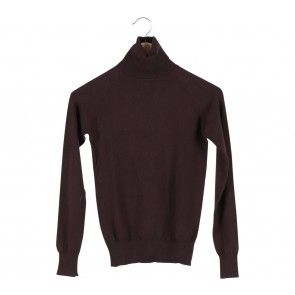 Brown Turtle Neck Blouse