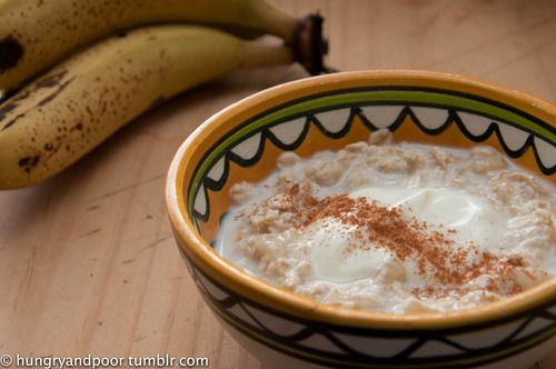 Banana and Cinnamon Bircher Muesli.