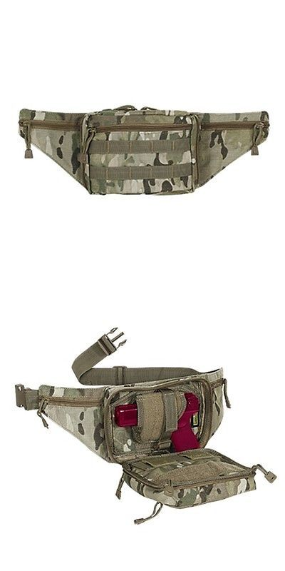 Tactical Molle Pouches 177900: Voodoo Tactical Hide-A-Weapon Fanny Pack Pistol Holster Molle Pouch Multicam BUY IT NOW ONLY: $44.95