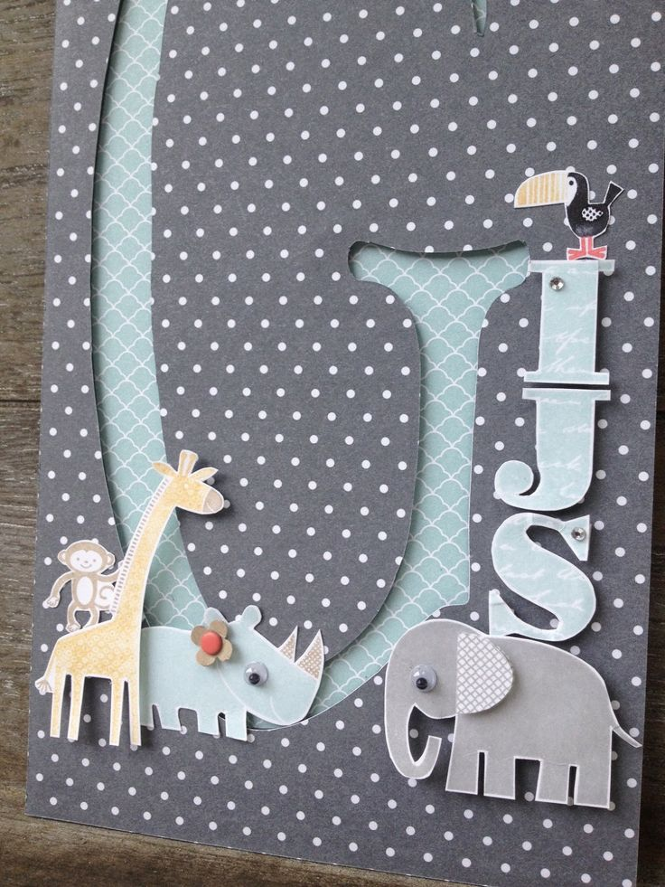 Zoo Babies, Morning Post Alphabet, Itty Bitty Punch, Banner Blast, Stampin' Up! by Margriet Creatief