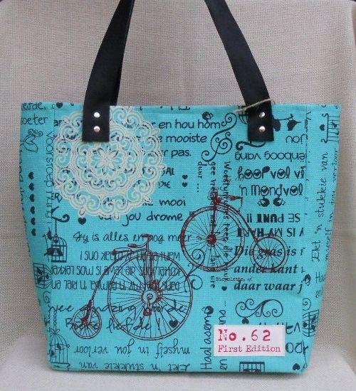 Bahia Art Tote Bag:  Textiles silkscreened and bag made up by Bahia Art.