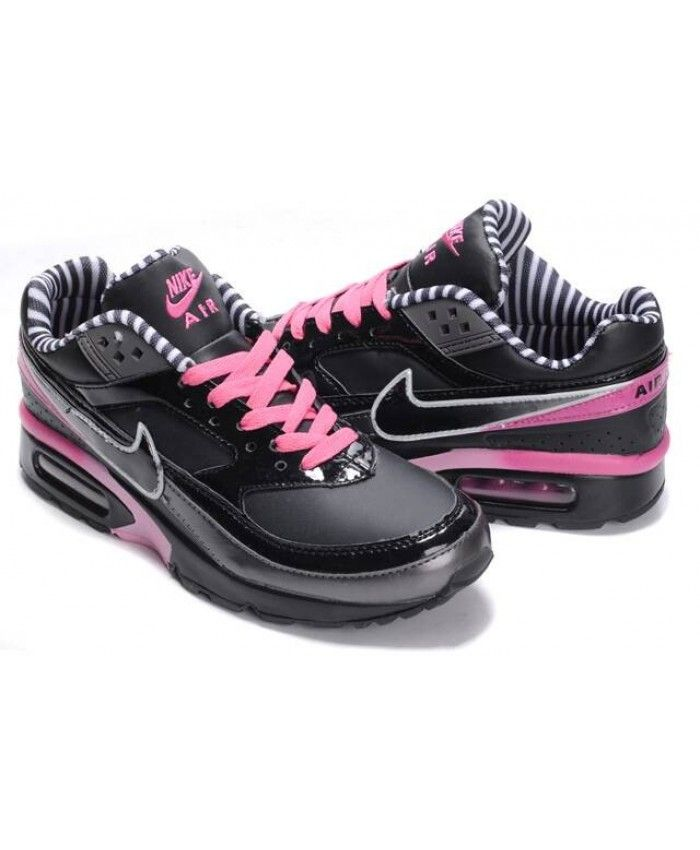 nike air max classic bw dames zwart roze