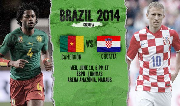 FIFA World Cup  Group-A  Cameroon vs Croatia at Manaus, Wednesday, June 18, 18:00 (AEST).  Volker Finke saw his aspect fall to a defeat of Cameroon 1-0 to mexico on Friday, despite the reality that what appeared to be a valid goal for offside . The african nation, that now has lost their last 5 games within the finals, are frustrated and that i know the shock Croatia clash in Manaus is that the key to their hopes for progress in Brazil.