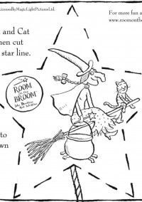 Color the Witch and make her fly with this free printable activity!