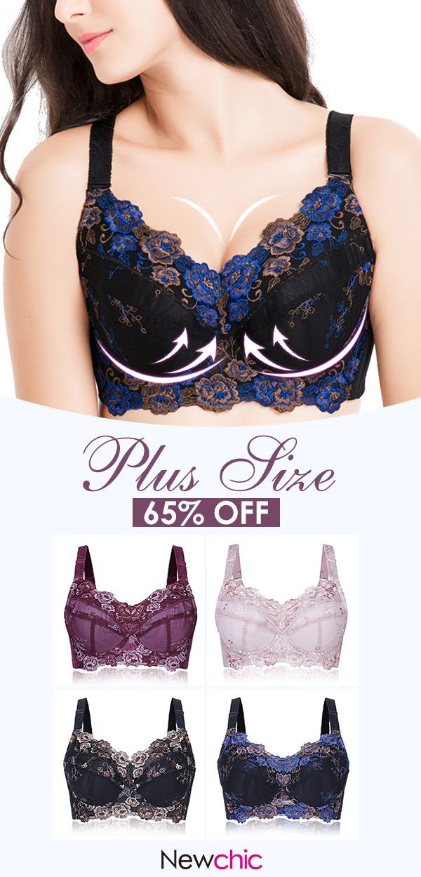 e303859353  -65% Plus Size Sexy Push Up Adjustable Embroidery Full Cup Underwire Bras   LaceBra  EmbroideryBra  SexyBra