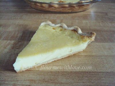 The best egg custard pie! Simple and delicious! #FlourMeWithLove, #egg, #custard, #pie