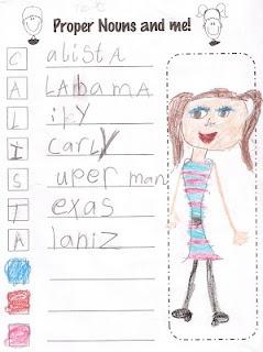Proper Noun Acrostic: Classroom Idea, Totally Terrif, Language Art, Acrost Poem, Schools Idea, Proper Nouns, Grammar Nouns, Nouns Acrost, 1St Grade