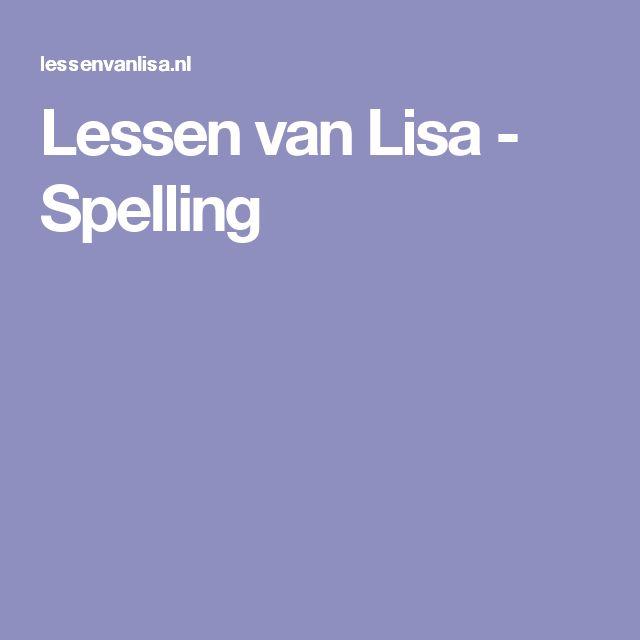 Lessen van Lisa - Spelling