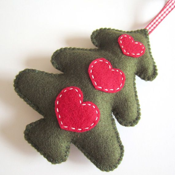 Large Green Folk Style Christmas Tree Decoration by ilovehearts, £11.99
