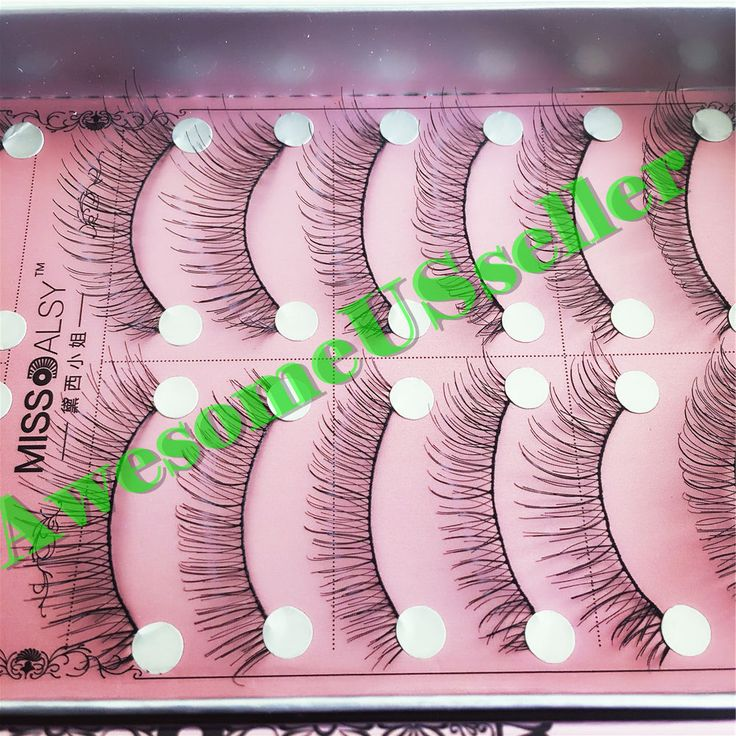 20 Pairs Soft Natural Handmade Eye Lash Makeup Charming False Eyelashes #218B