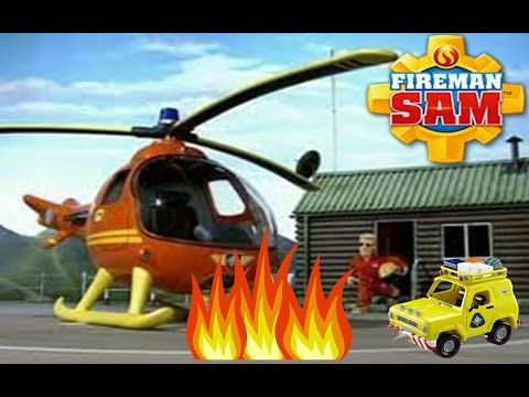 Fireman Sam USA - Helicopter Rescue on Pontypandy Roof - Mountain Lodge ...