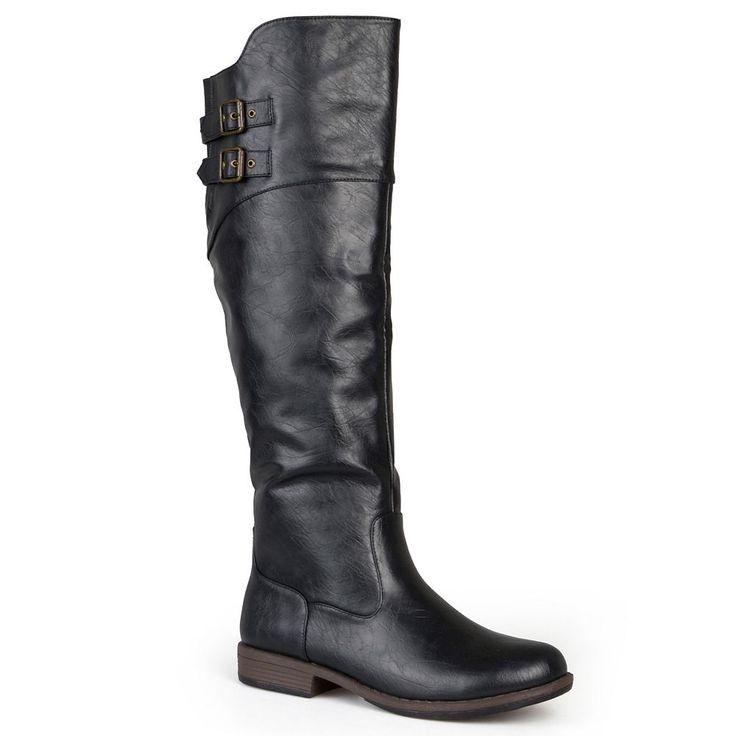 Journee Collection Tori Women's Knee-High Boots, Size: medium (6.5), Black