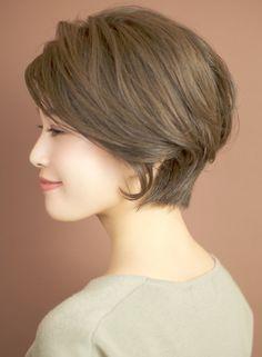 グレージュショートボブ☆(髪型ショートヘア)