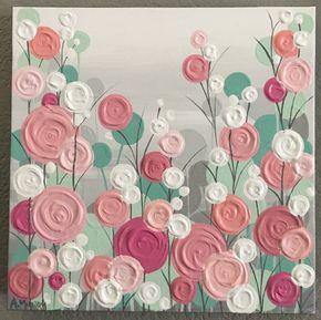 Menta rosa Coral melocotón y gris textura por MurrayDesignShop