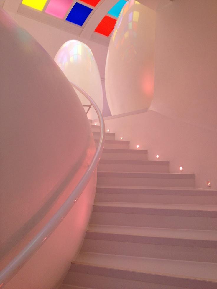 Pod-shaped toilets at Sketch, London