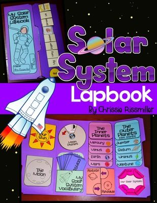 Solar System Lapbook Interactive Kit from Chrissie Rissmiller on TeachersNotebook.com -  (33 pages)  - Solar System Lapbook: planets, planet order mnemonic, sun, moon, moon phases, rotate/revolve
