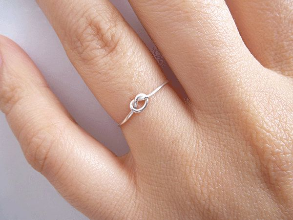 Sterling Silver Knot Ring  Bridesmaid Ring   by PRECIOUSWINGSCOM, $14.00