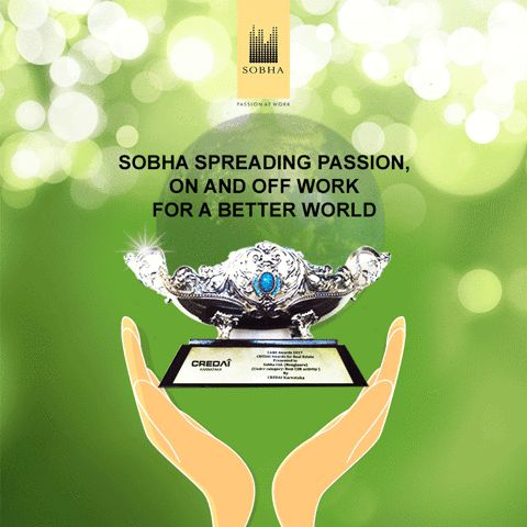 #SobhaLtd acknowledged at #careawards2017 for best CSR activity in the Real Estate sector by CREDAI Karnataka!