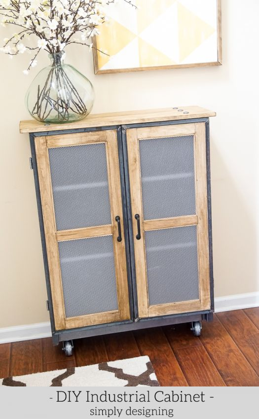 Build an Industrial Cabinet from an IKEA bookcase with this project tutorial. Use simple tools and materials to make your own DIY furniture.