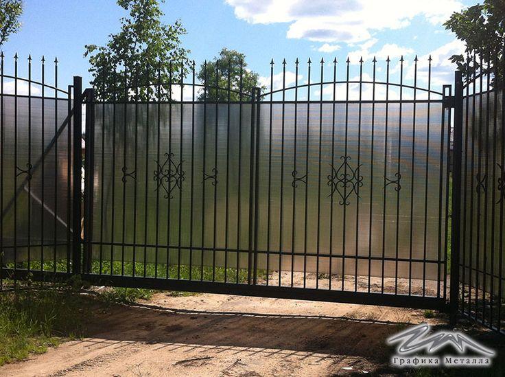 Ворота кованые откатные, металлические ворота с автоматикой. Каталог фотографий. Москва. | Графика Металла - ковка и сварные изделия