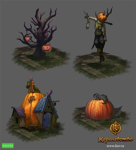 Halloween surroundings by *Gimaldinov on deviantART