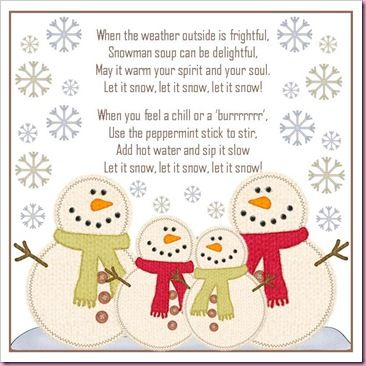 snowman soup poem/song - printable - bjl