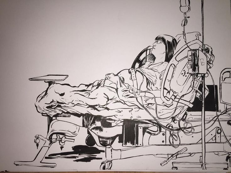 Utopies Selectives artist - INKTOBER 2017 day 12 - Drew my wife going into labour before things got serious