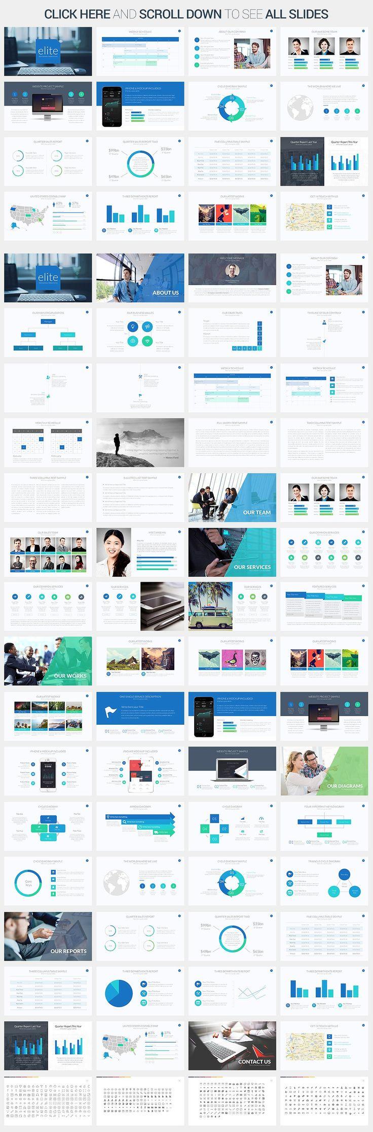 Elite Powerpoint Template by SlidePro on @creativemarket